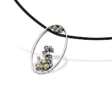 Hollein Pendant by Erik Stewart (Platinum & Stone Necklace)