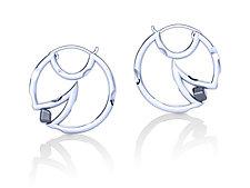 Mooncheese Earrings by Erik Stewart (Silver & Stone Earrings)
