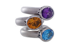 Goblet Ring by Erik Stewart (Silver & Stone Ring)