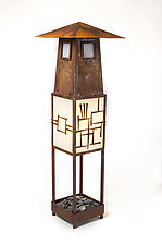 Asian Garden Lamp by Jamie Jensen (Metal Floor Lamp)