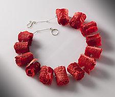 Joomchi Curls by Nancy Raasch (Silver & Paper Necklace)