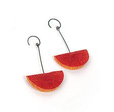 Joomchi Folded Earrings by Nancy Raasch (Silver & Paper Earrings)