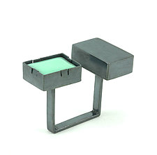 Square Ring by Lauren Markley (Enameled Ring)