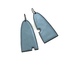 Asymmetrical Enameled Earrings by Lauren Markley (Enameled Earrings)