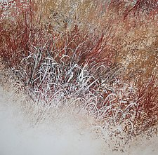 Dancing Grass and Dogwoods by Jan Jahnke (Mixed-Media Painting)