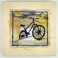 Pineridge Singletrack by Ayn Hanna (Fiber Wall Hanging)