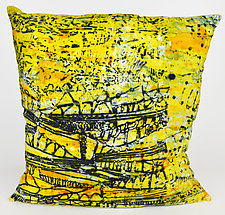 City Summer Pillow by Ayn Hanna (Cotton & Linen Pillow)