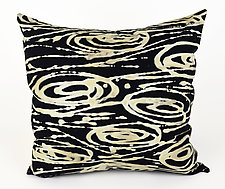 Big Swirls Pillow II by Ayn Hanna (Cotton & Linen Pillow)