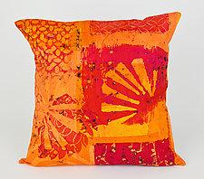 Hot Mod Burst Pillow by Ayn Hanna (Cotton & Linen Pillow)