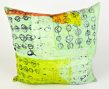 Mint Power Lime Pillow by Ayn Hanna (Cotton & Linen Pillow)