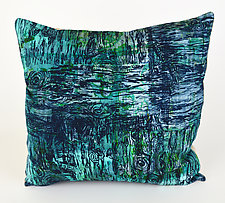 Tide Pools 2 Pillow by Ayn Hanna (Cotton & Linen Pillow)