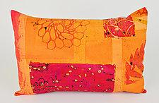Hot Mod Bloom Pillow by Ayn Hanna (Cotton & Linen Pillow)