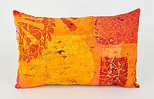 Hot Mod Sunburst Pillow by Ayn Hanna (Cotton & Linen Pillow)