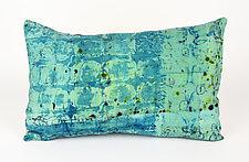 Sea Breeze #1 Pillow by Ayn Hanna (Cotton & Linen Pillow)