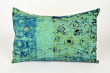 Sea Breeze #3 Pillow by Ayn Hanna (Cotton & Linen Pillow)