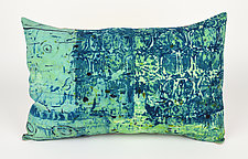 Sea Breeze #4 Pillow by Ayn Hanna (Cotton & Linen Pillow)
