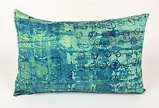 Sea Breeze #5 Pillow by Ayn Hanna (Cotton & Linen Pillow)