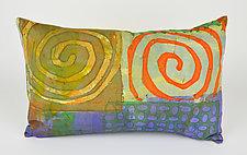 Double Swirl Pillow by Ayn Hanna (Cotton & Linen Pillow)