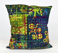 Bohemian Medley Square Pillow by Ayn Hanna (Cotton & Linen Pillow)
