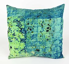 Sea Breeze #6 Pillow by Ayn Hanna (Cotton & Linen Pillow)