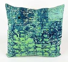 Sea Breeze #7 Pillow by Ayn Hanna (Cotton & Linen Pillow)
