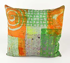 Swirl Pattern #2 Pillow by Ayn Hanna (Cotton & Linen Pillow)