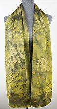 Chartreuse Summer Silk Charmeuse Scarf by Ayn Hanna (Silk Scarf)