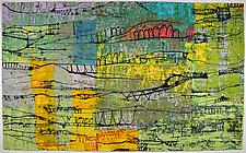 LineScape #36 (Bridges) by Ayn Hanna (Fiber Wall Hanging)
