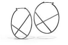 X Hoops by Laura Jaklitsch (Silver Earrings)