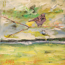 Sunny Sky Bluebird by Janice Sugg (Oil Painting)
