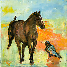 Friends of the Prairie by Janice Sugg (Oil Painting)