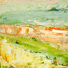 Ancient Landscape by Janice Sugg (Oil Painting)