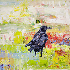 Crow Nesting by Janice Sugg (Oil Painting)