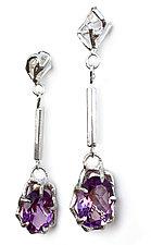 Large Geo Gemstone Drops by Aimee Petkus (Silver & Stone Earrings)