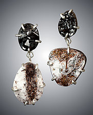 Rough Mineral Earrings by Aimee Petkus (Silver & Stone Earrings)