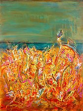 Tall Field by Betty Green (Mixed-Media Painting)