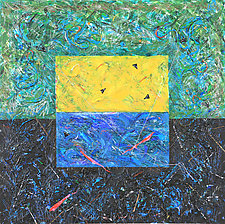 Divers by Betty Green (Mixed-Media Painting)