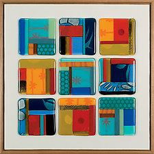 Title IX - Equilibrium by Mary Johannessen (Art Glass Wall Sculpture)