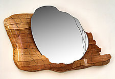 Contours Mirror by Aaron Laux (Wood Mirror)