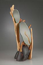 Vanity Mirror #1 by Aaron Laux (Wood Mirror)