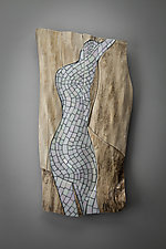 Ghost Image by Aaron Laux (Art Glass & Wood Wall Sculpture)