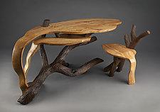 Part of the Landscape Desk by Aaron Laux (Wood Desk)