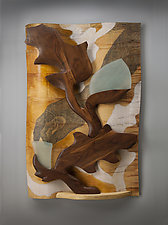 In My Garden by Aaron Laux (Wood Wall Sculpture)