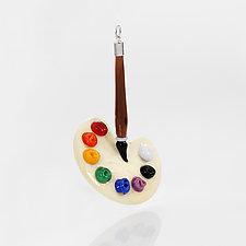 Artist's Palette by Marc VandenBerg (Art Glass Ornament)