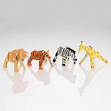 On Safari Set by Beth DiCara (Ceramic Ornaments)