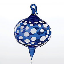 Evening Snow by Teri Sokoloff (Art Glass Ornament)