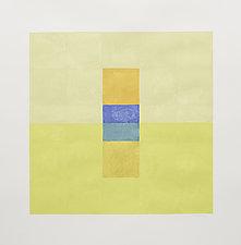 Bar Inset Summer Yellows by Nancy Simonds (Gouache Painting)