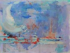 Bahamas Sunrise by Pamela Acheson Myers (Acrylic Painting)