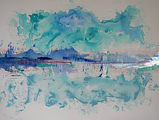 At Anchor in the Chilean Fjords by Pamela Acheson Myers (Acrylic Painting)