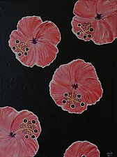 Pink Hibiscus Passing By by Pamela Acheson Myers (Acrylic Painting)